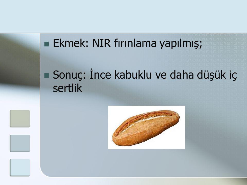 Ekmek: NIR fırınlama yapılmış;