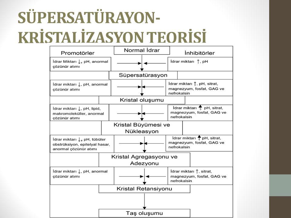 SÜPERSATÜRAYON-KRİSTALİZASYON TEORİSİ