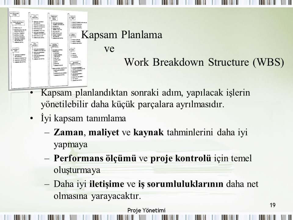 Kapsam Planlama ve Work Breakdown Structure (WBS)