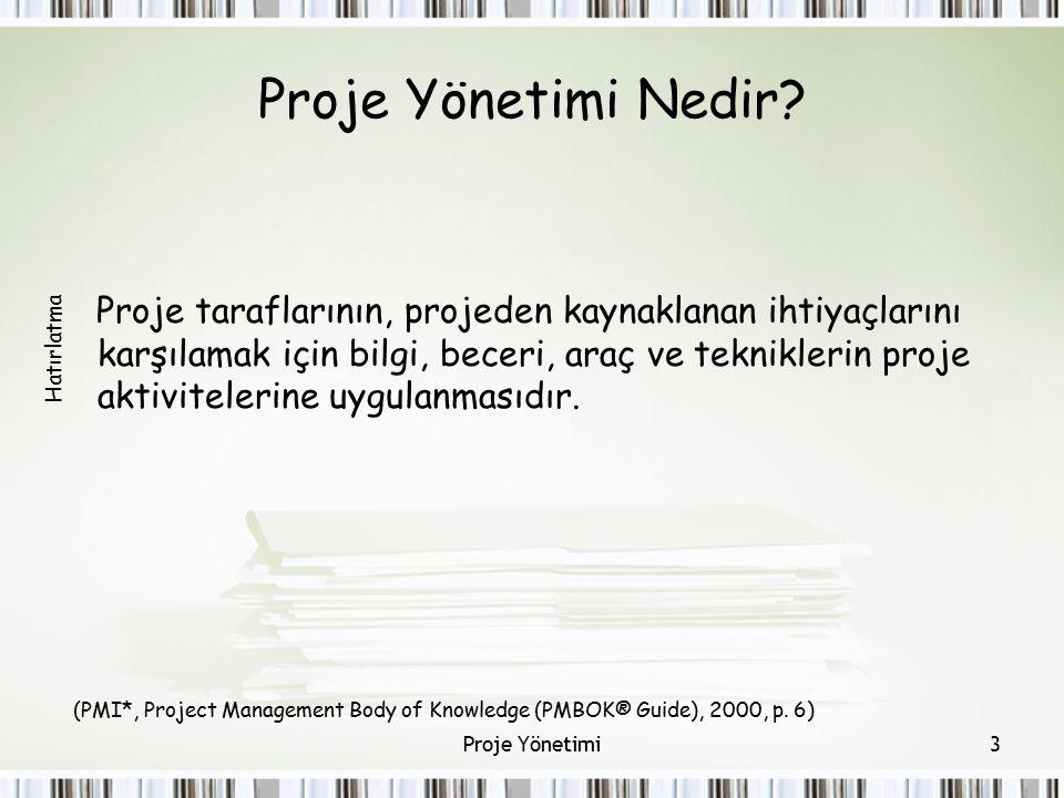 Proje Yönetimi Nedir