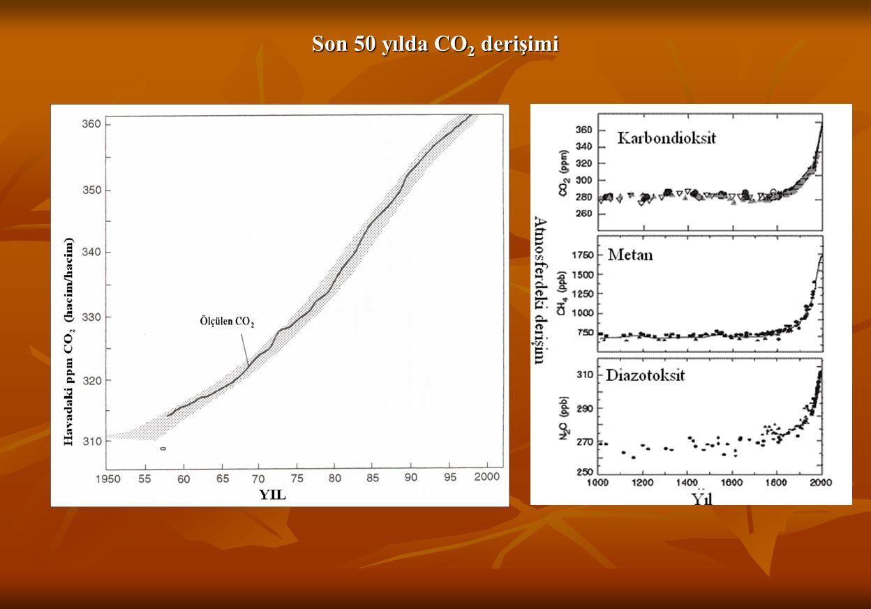 Son 50 yılda CO2 derişimi