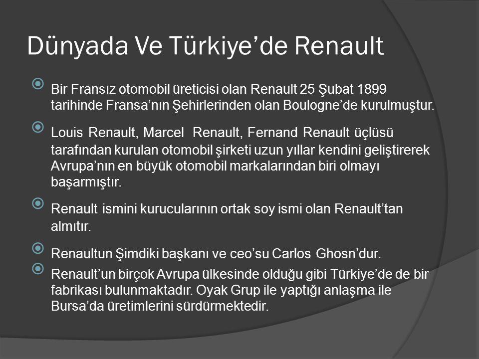 Dünyada Ve Türkiye'de Renault