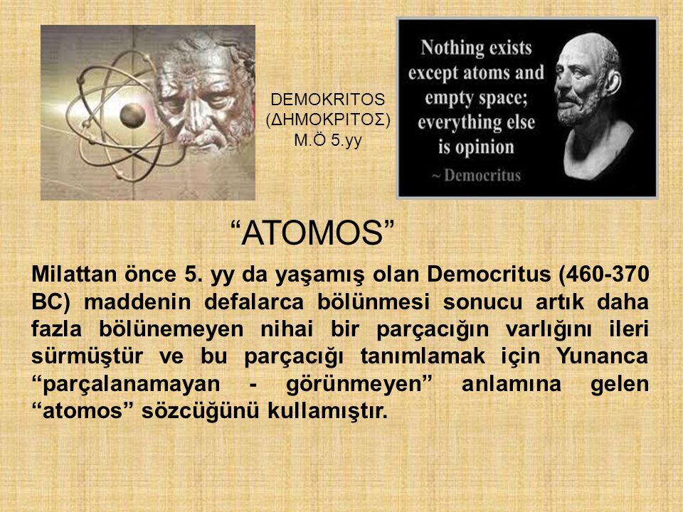 DEMOKRITOS (ΔHMOKPITOΣ) M.Ö 5.yy