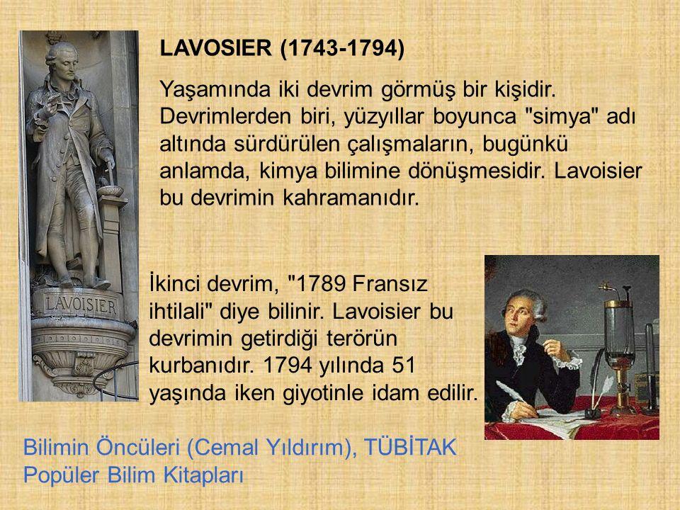 LAVOSIER (1743-1794)