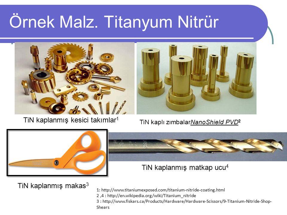 Örnek Malz. Titanyum Nitrür