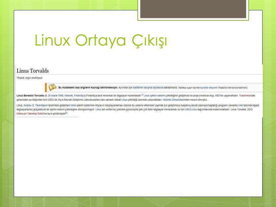 Linux Ortaya Çıkışı