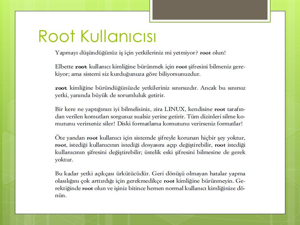 Root Kullanıcısı