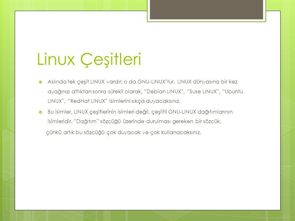 Linux Çeşitleri