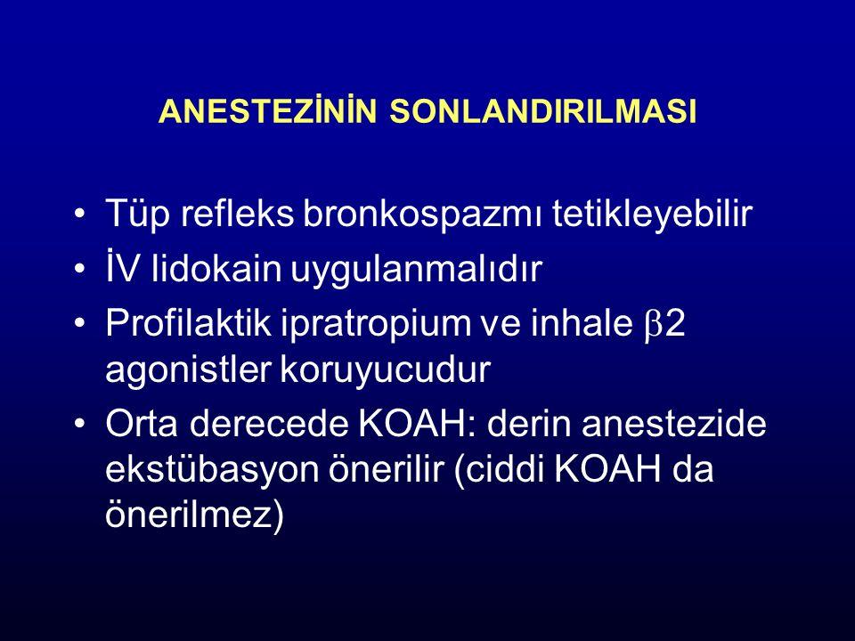 Antikolinerjikler: (Atropin, ipratropium bromid, glikopirolat) İpratropium bromid: 20 µg MDI, 20-40 mg nebulize.