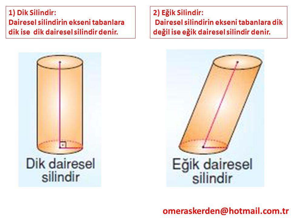 omeraskerden@hotmail.com.tr 1) Dik Silindir: