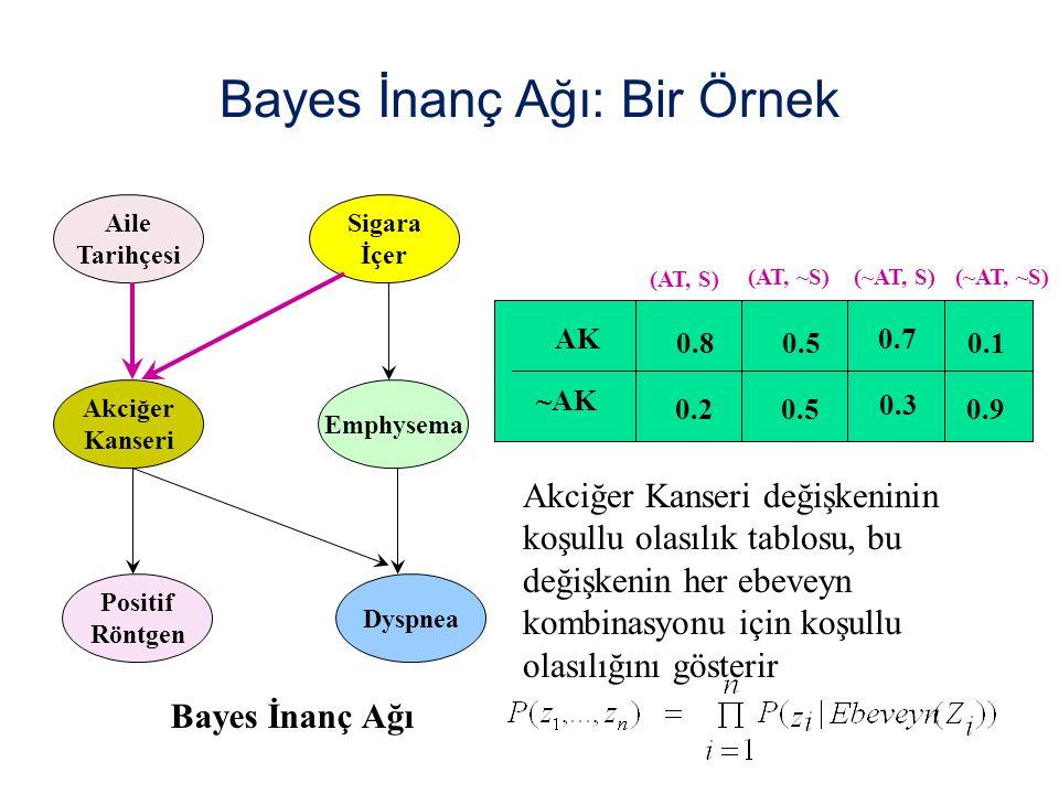 Bayes İnanç Ağı: Bir Örnek