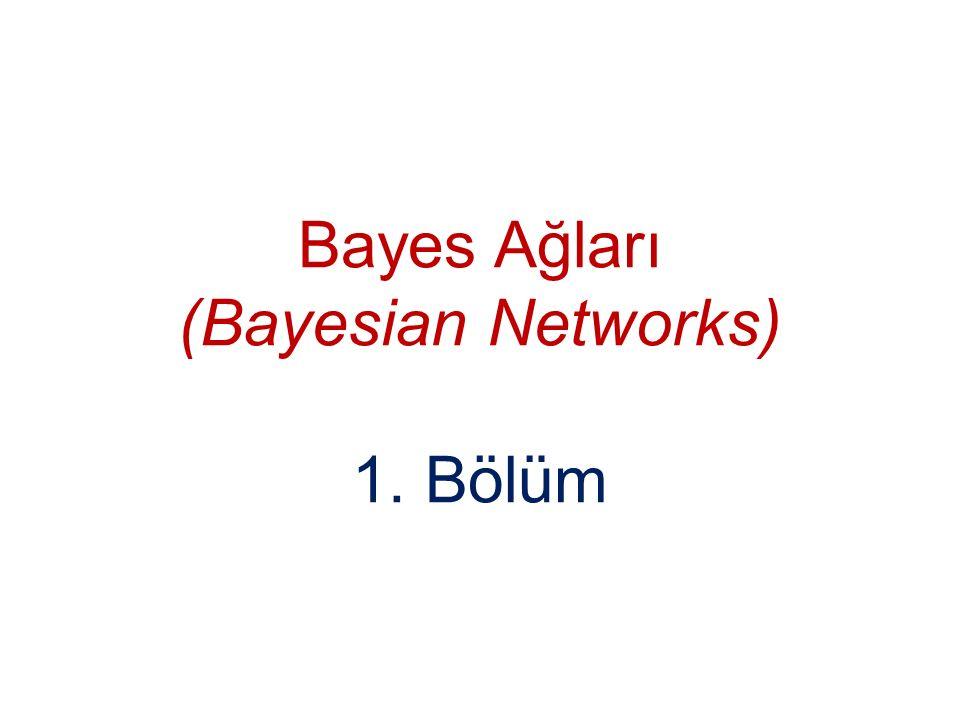 Bayes Ağları (Bayesian Networks) 1. Bölüm