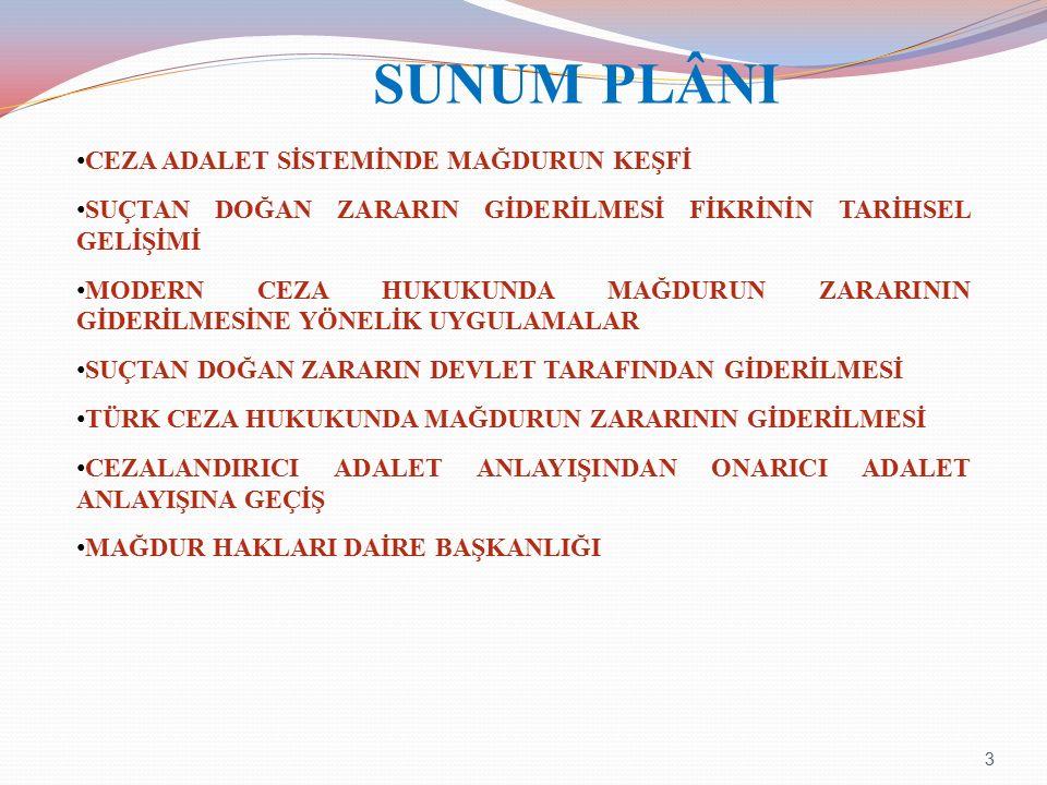 SUNUM PLÂNI CEZA ADALET SİSTEMİNDE MAĞDURUN KEŞFİ