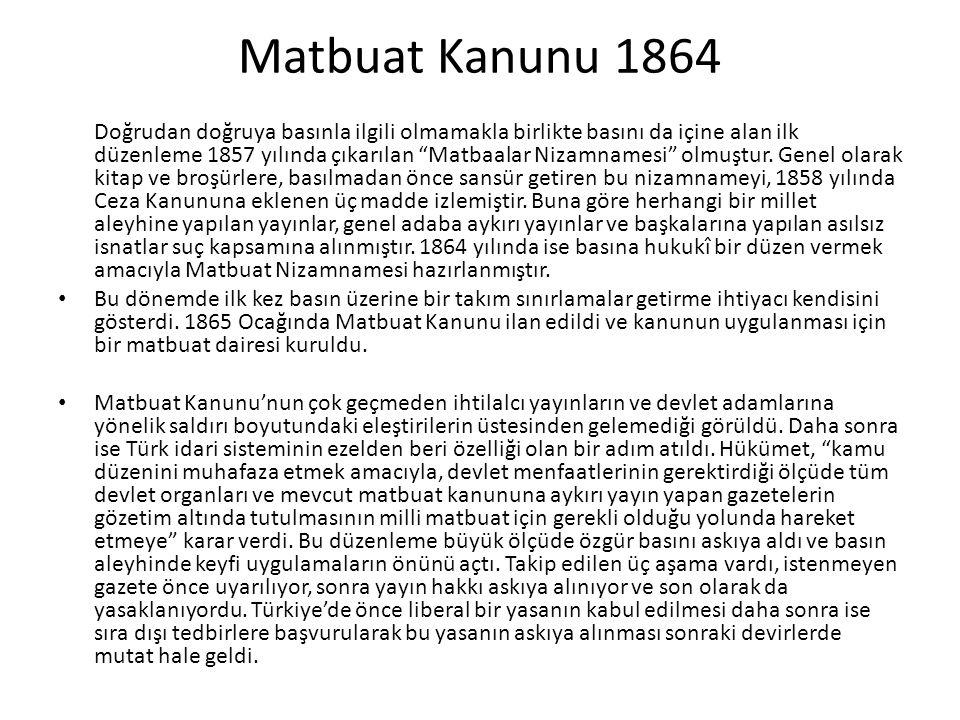 Matbuat Kanunu 1864