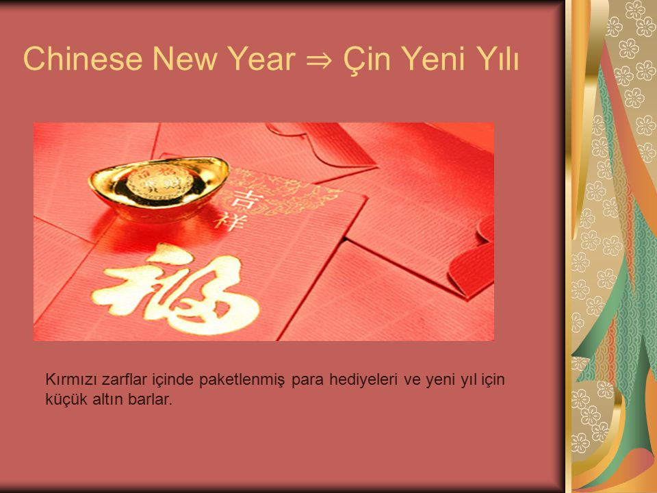 Chinese New Year ⇒ Çin Yeni Yılı