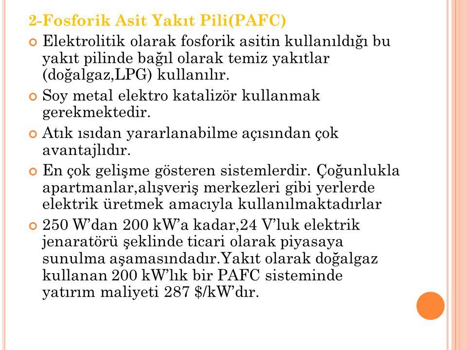 2-Fosforik Asit Yakıt Pili(PAFC)