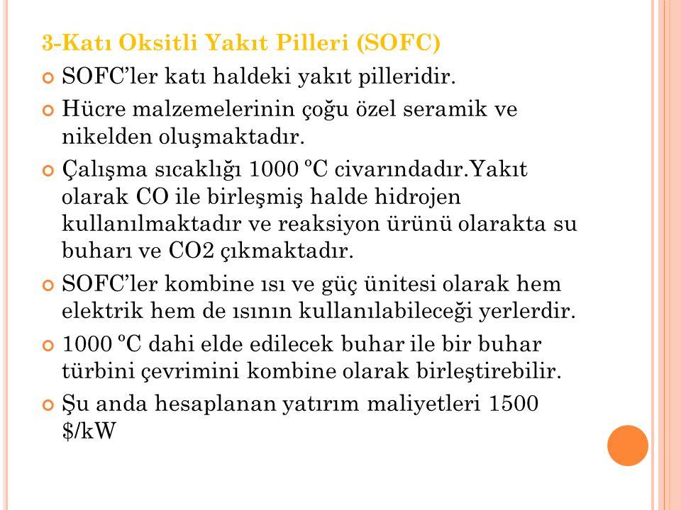 3-Katı Oksitli Yakıt Pilleri (SOFC)