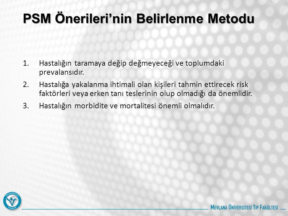 PSM Önerileri'nin Belirlenme Metodu