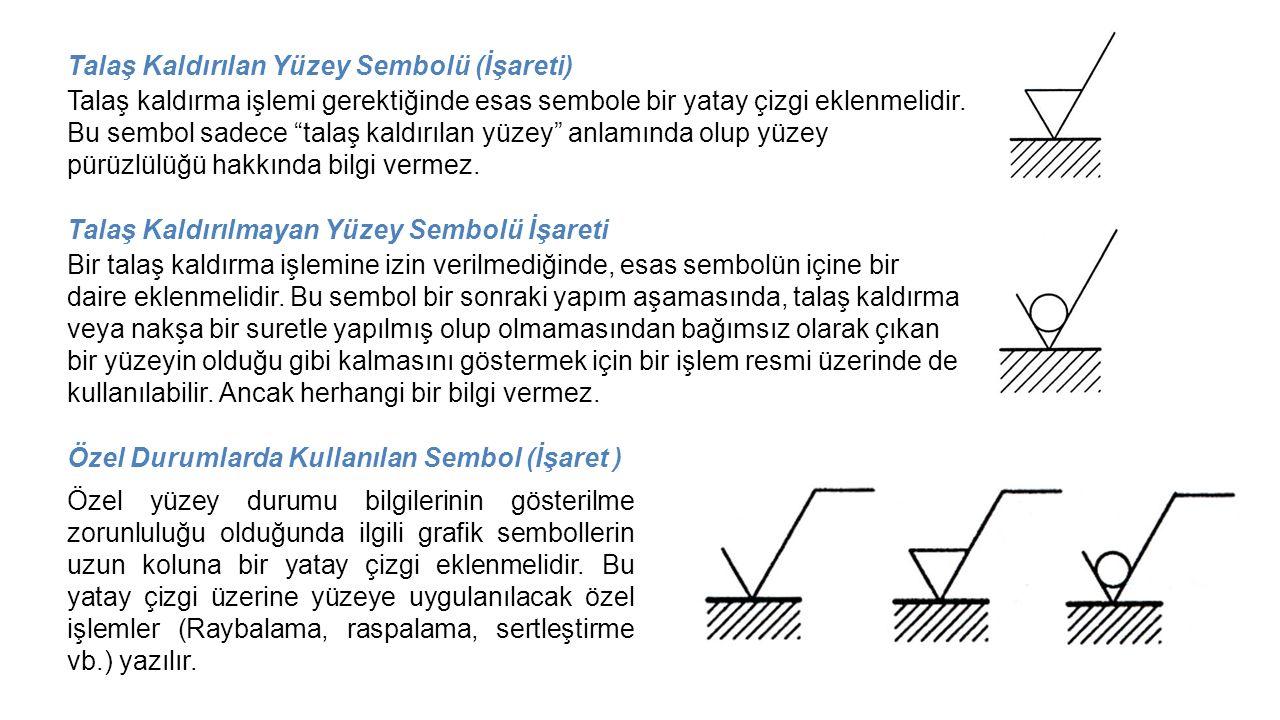 Talaş Kaldırılan Yüzey Sembolü (İşareti)