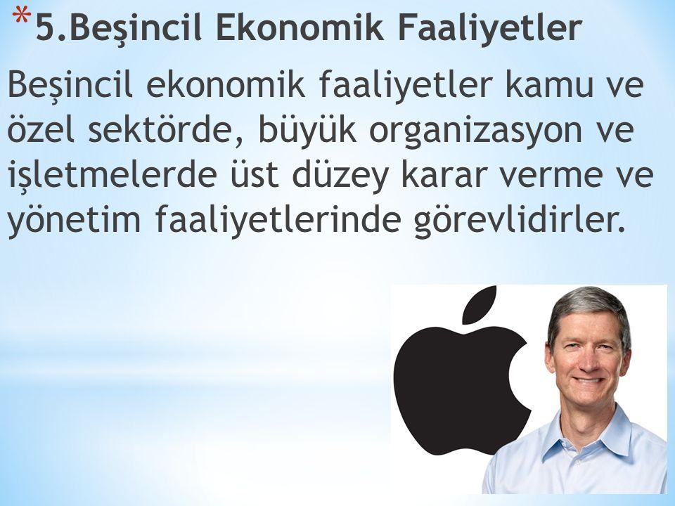 5.Beşincil Ekonomik Faaliyetler