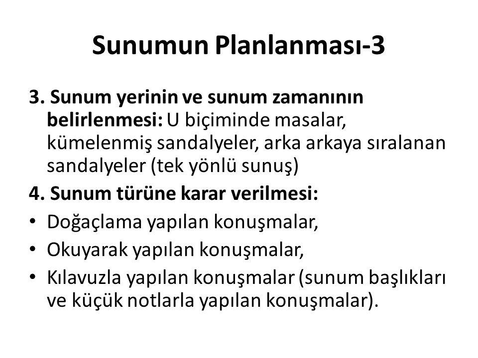 Sunumun Planlanması-3