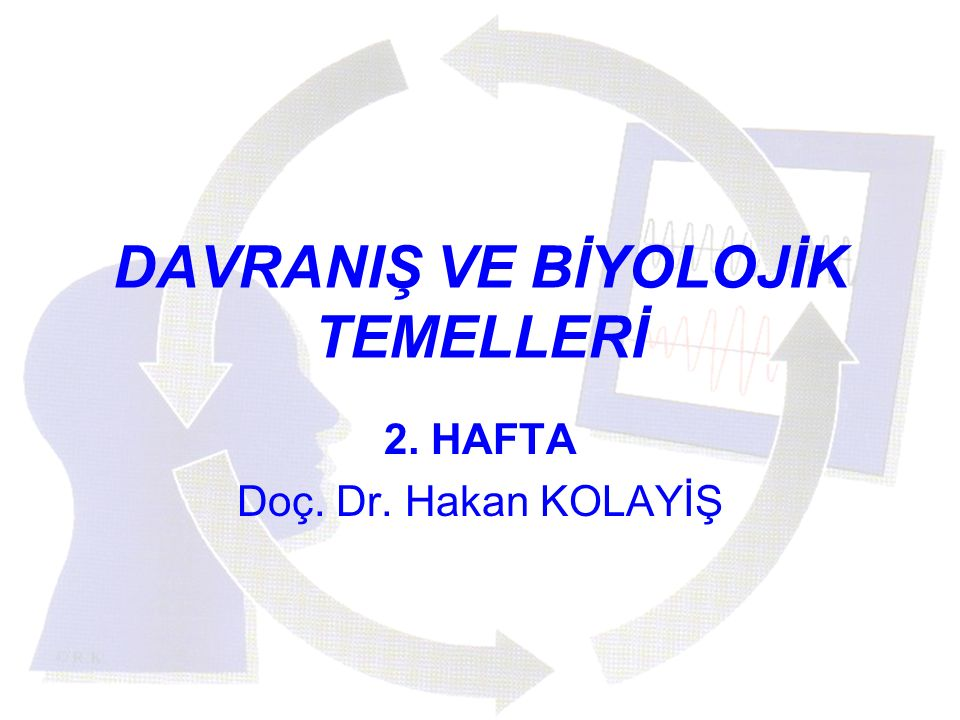 DAVRANIŞ VE BİYOLOJİK TEMELLERİ