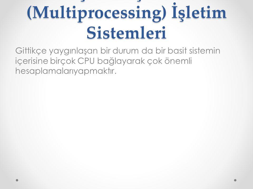 . Çoklu İşlemci (Multiprocessing) İşletim Sistemleri