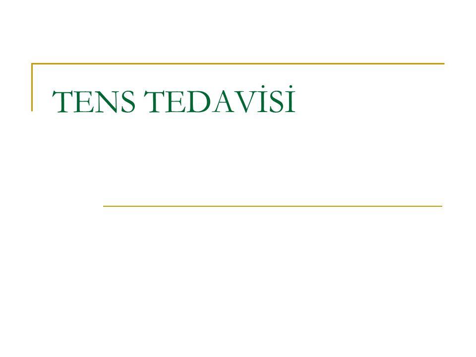 TENS TEDAVİSİ