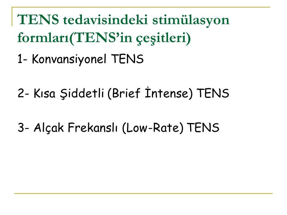 TENS tedavisindeki stimülasyon formları(TENS'in çeşitleri)