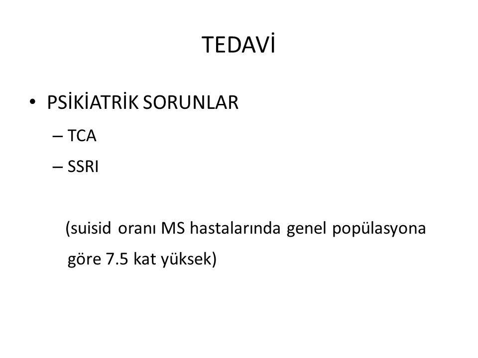 TEDAVİ PSİKİATRİK SORUNLAR TCA SSRI