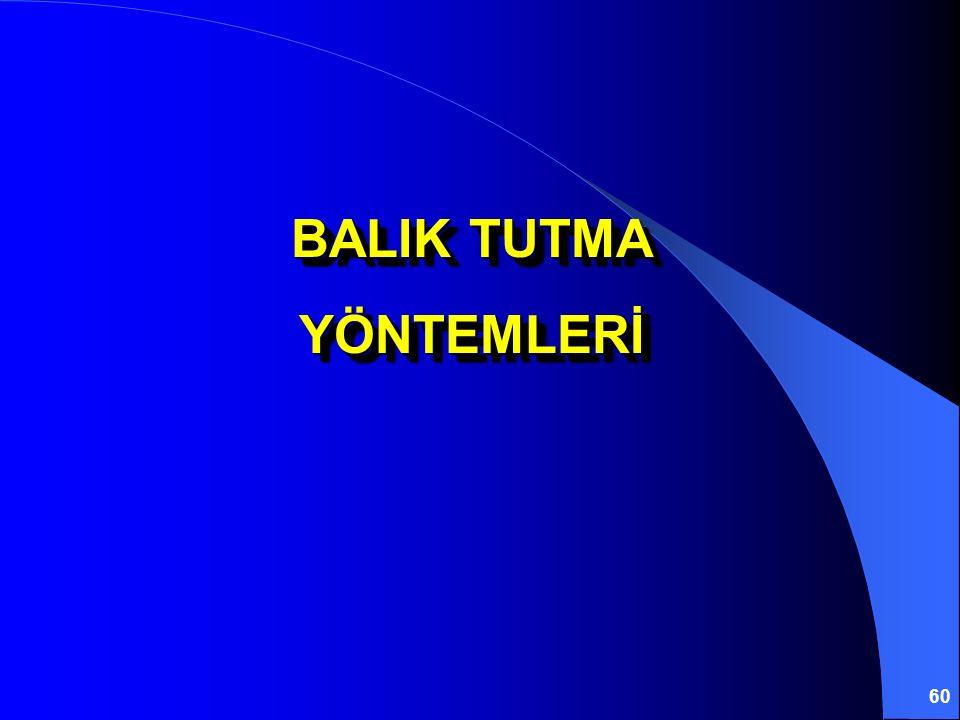 BALIK TUTMA YÖNTEMLERİ