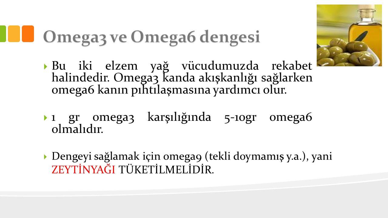 Omega3 ve Omega6 dengesi