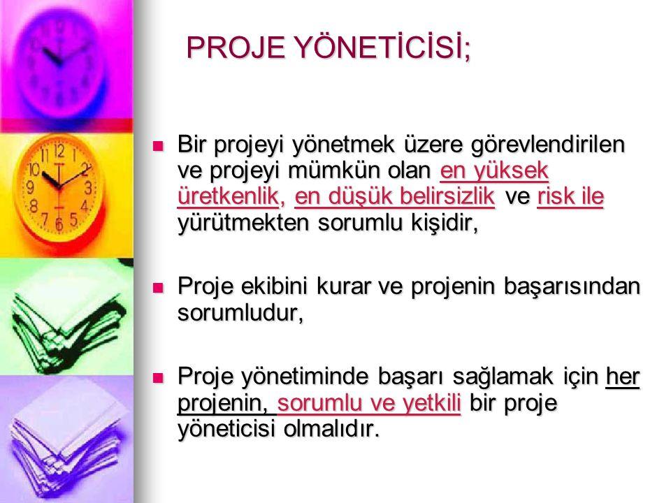 PROJE YÖNETİCİSİ;