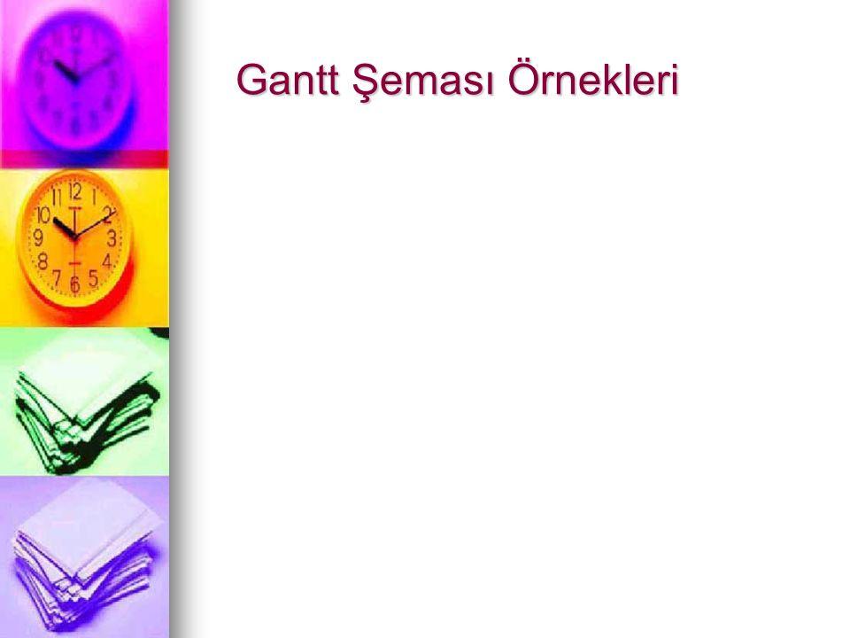 Gantt Şeması Örnekleri