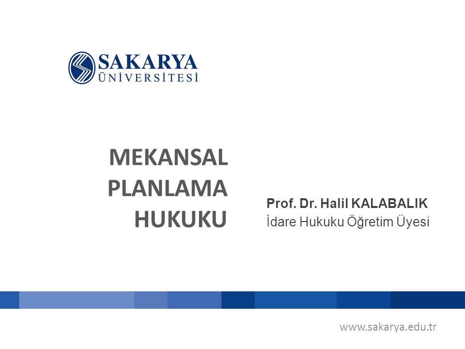 MEKANSAL PLANLAMA HUKUKU