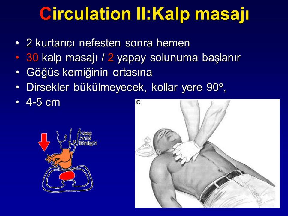 Circulation II:Kalp masajı