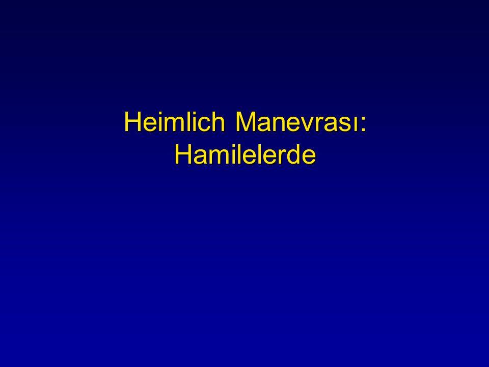 Heimlich Manevrası: Hamilelerde