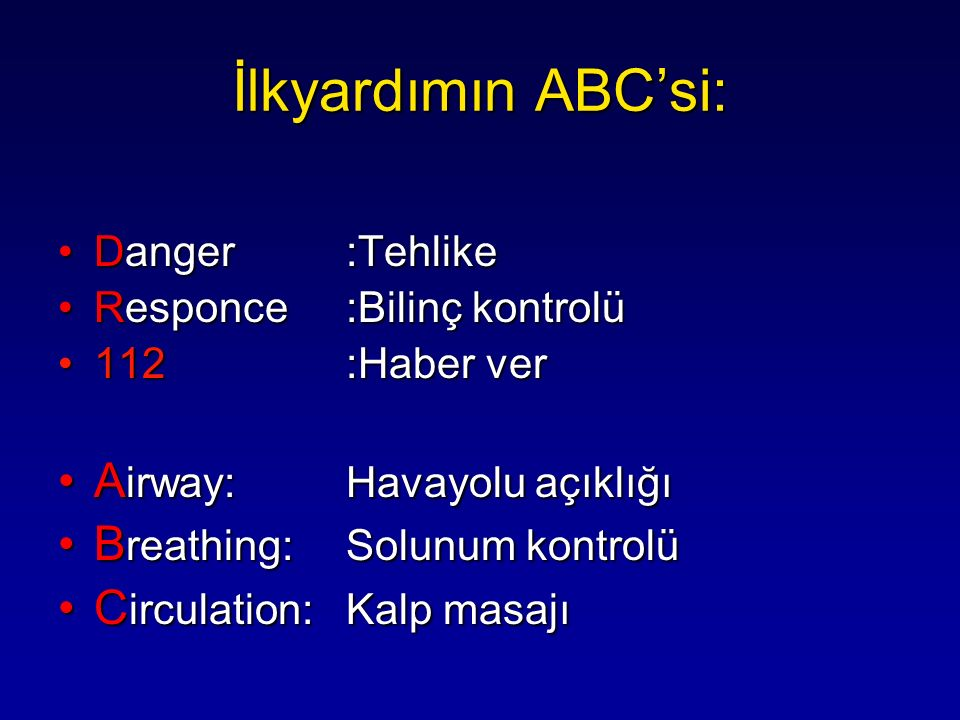 İlkyardımın ABC'si: Airway: Havayolu açıklığı
