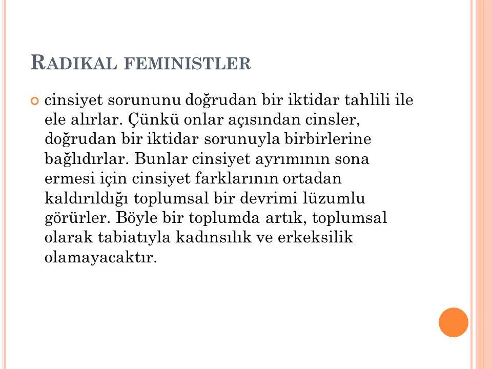 Radikal feministler