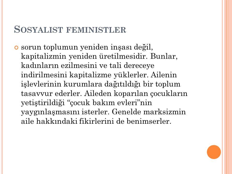 Sosyalist feministler