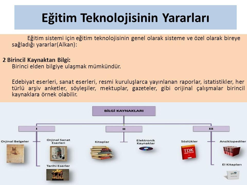 Eğitim Teknolojisinin Yararları