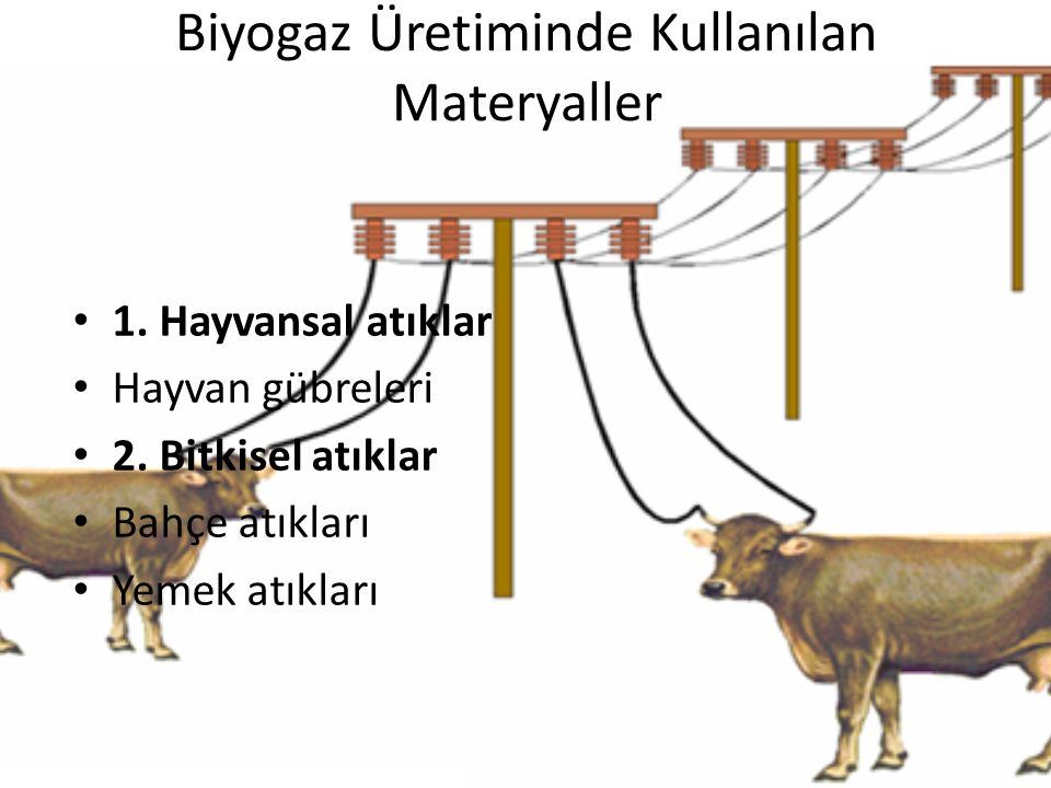 Biyogaz Üretiminde Kullanılan Materyaller