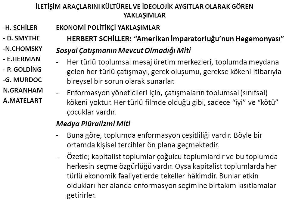 HERBERT SCHİLLER: Amerikan İmparatorluğu'nun Hegemonyası