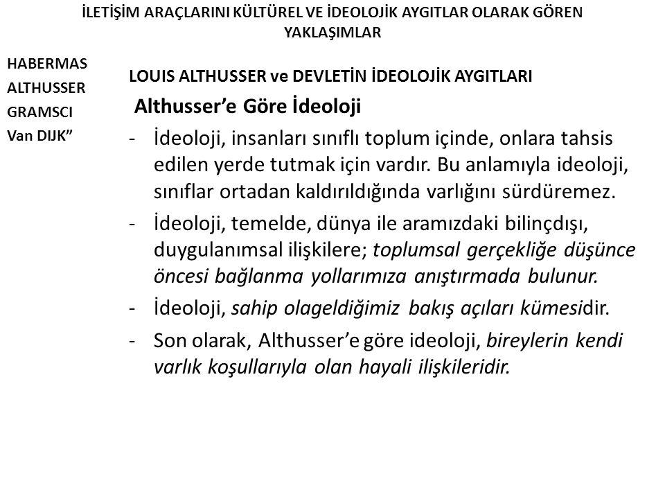 Althusser'e Göre İdeoloji