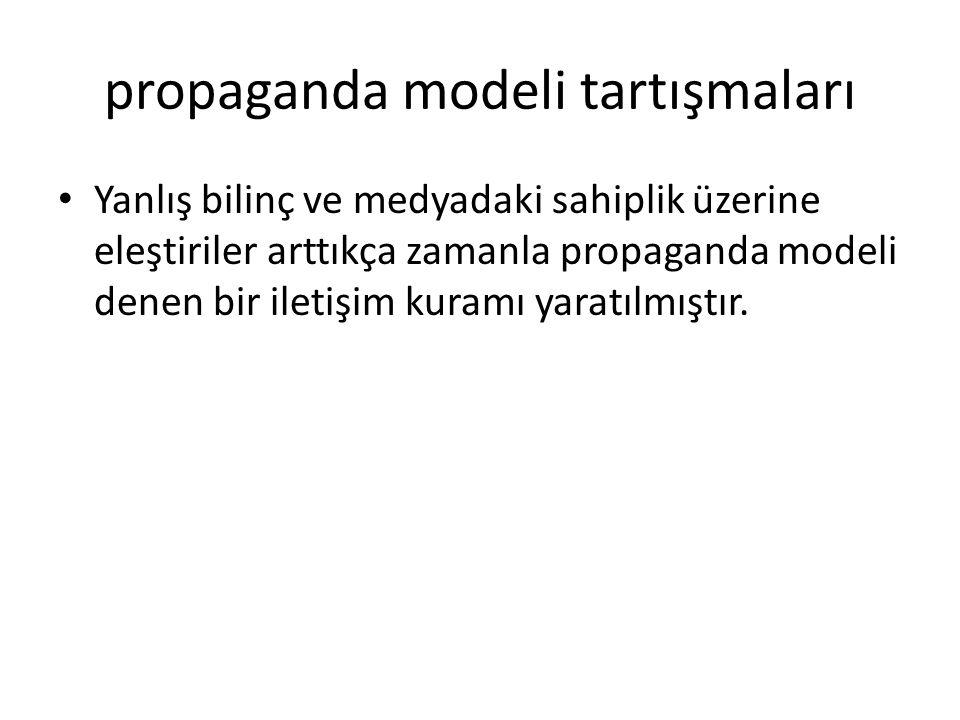 propaganda modeli tartışmaları