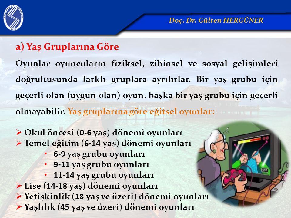 a) Yaş Gruplarına Göre