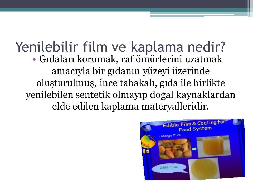 Yenilebilir film ve kaplama nedir
