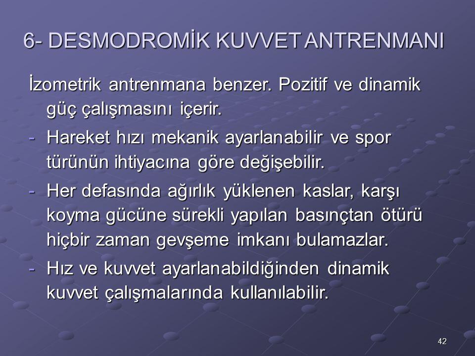 6- DESMODROMİK KUVVET ANTRENMANI