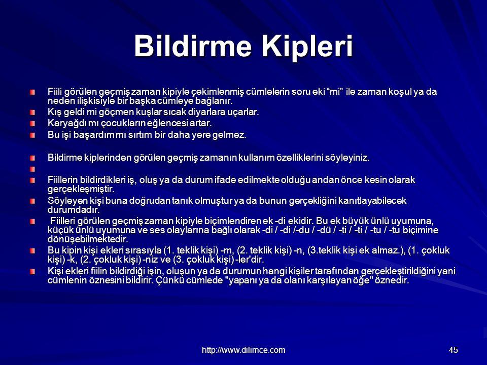 Bildirme Kipleri