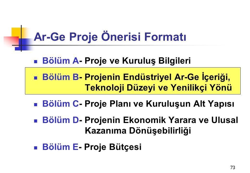 Ar-Ge Proje Önerisi Formatı